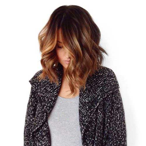 Highlighted Short Brown Bob