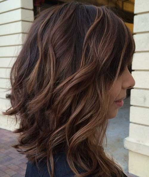 Inverted Long Brown Bob Hairstyles