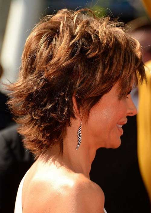 Layered Hairstyles for Short Hair Back View Look