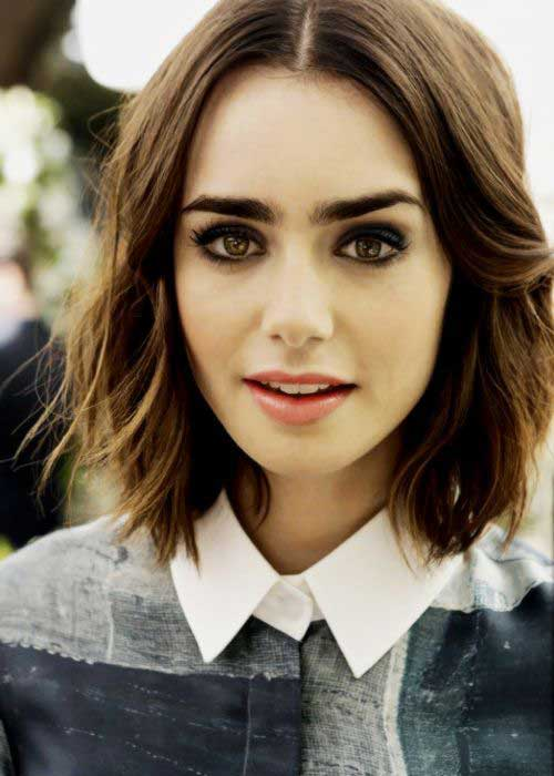 Lily Collins Short Hair Cuts for Women