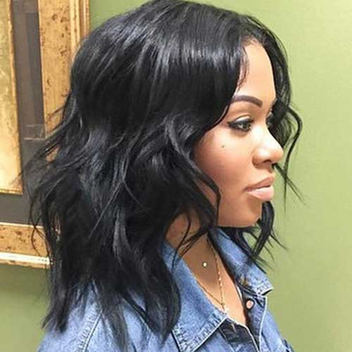 Long Wavy Bob Hairstyles for Black Women