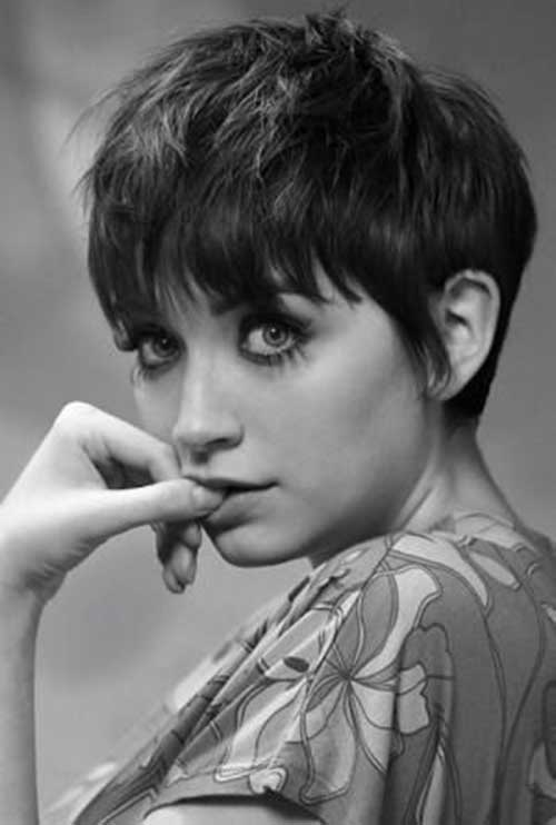 Messy Pixie Cut with Bangs Styles