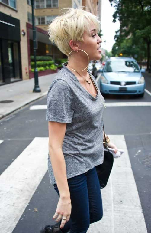 Miley Cyrus Messy Pixie Cut