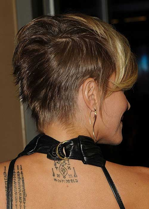 Back View Pixie Hair Short