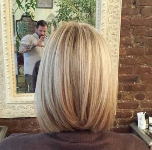 Short Blonde Bob Back View