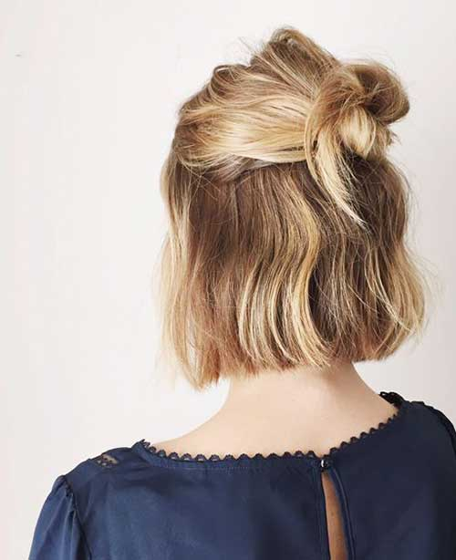 Short Blonde Bob Haircuts Updo