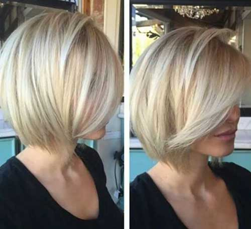 Short Blonde Bob for Fine Hairstyles