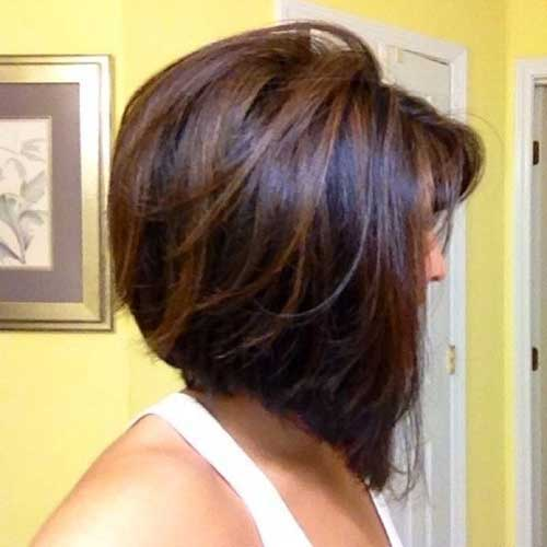 Short Brown Bob with Highlights