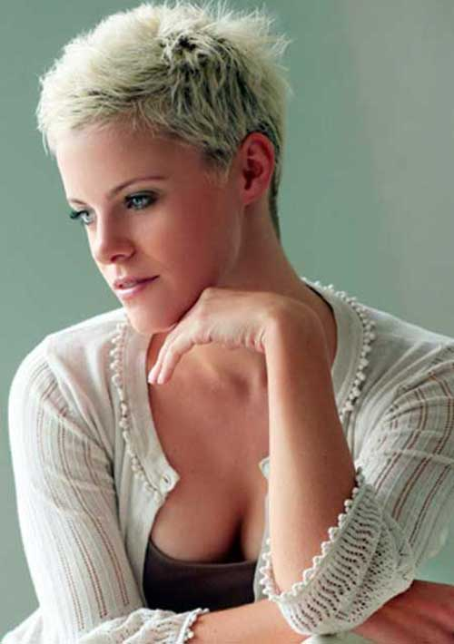 Short Platinum Blonde Pixie Haircuts