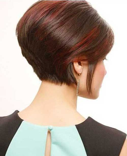 Short Stacked Hair Cut