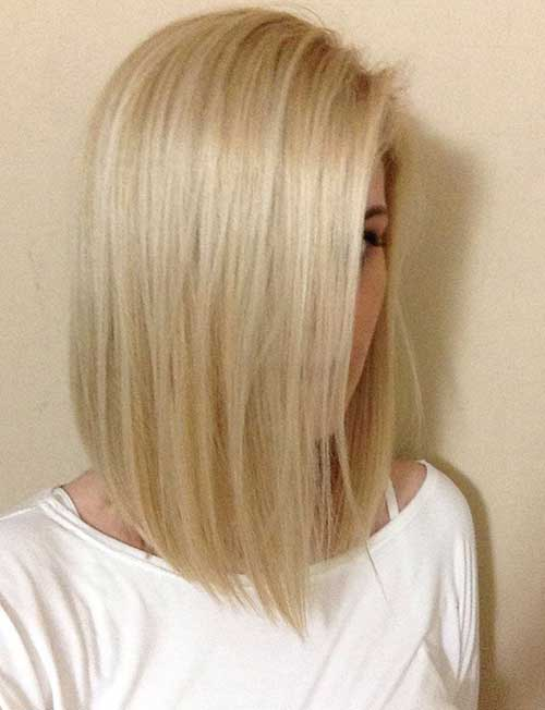 Straight Short Blonde Bob Hairstyles