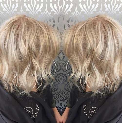 Wavy Blonde Bob Haircuts