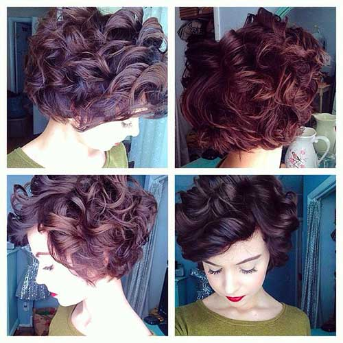 Hairstyles for Short Curly Hair-12