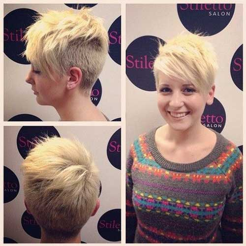 Short Shaved Pixie Cuts