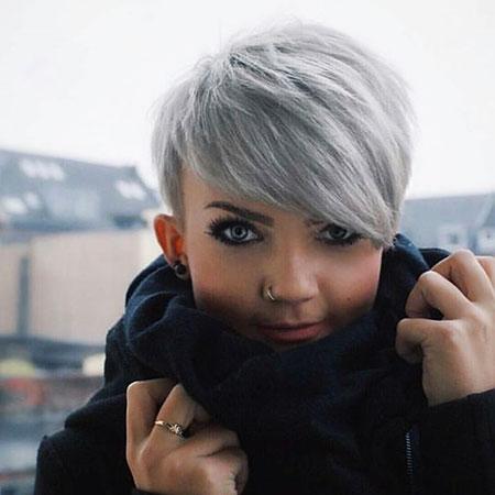 Silver Pixie Hair
