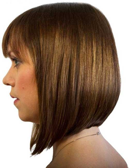 Inverted bob with fringe
