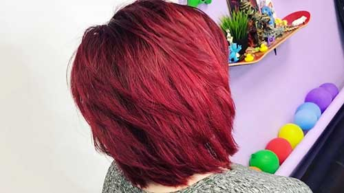 Red Short Haircut - 11