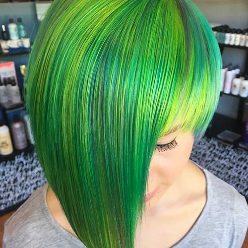 Short Green Hairstyle - 11