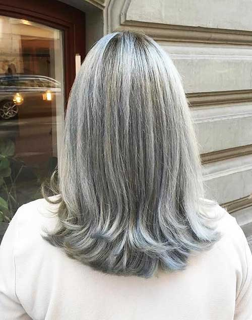 Short Grey Hairstyle - 11