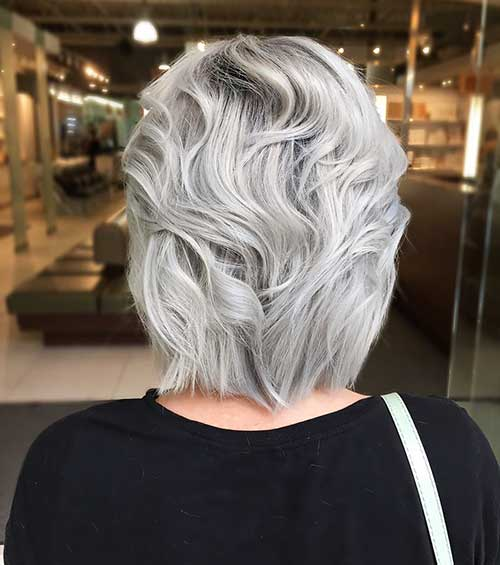 Short Silver Hairstyle - 11