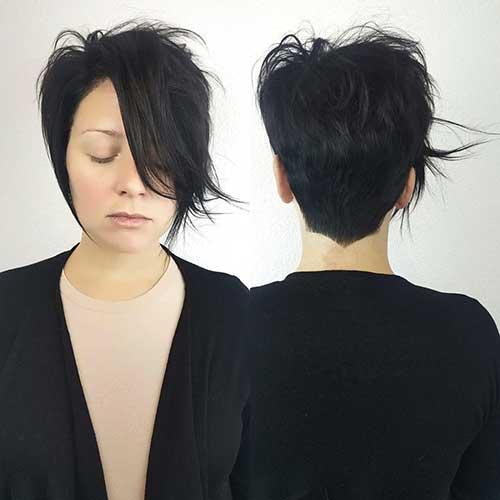Short Hair with Long Bangs - 12