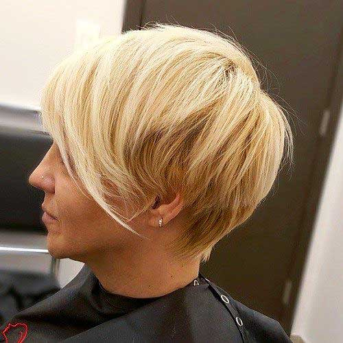 Short Hair with Long Bangs - 14