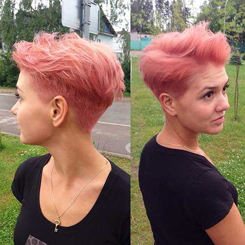 Short Pink Hair - 14