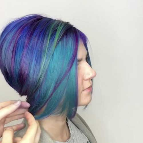 Super Short Blue Hair - 14