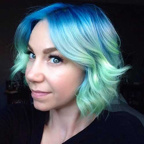 Short Green Hair - 16