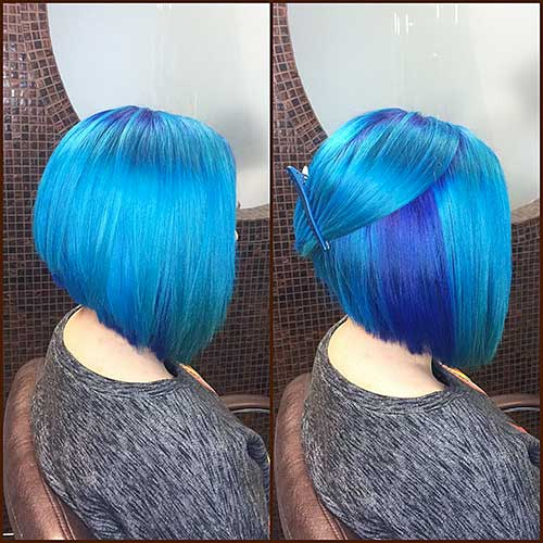 Short Blue Hair 2017 - 17