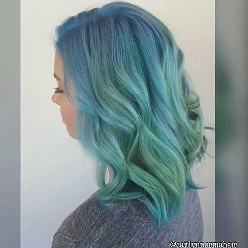 Short Green Hair 2017 - 17