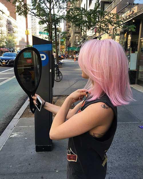 Short Pink Hair 2017 - 17