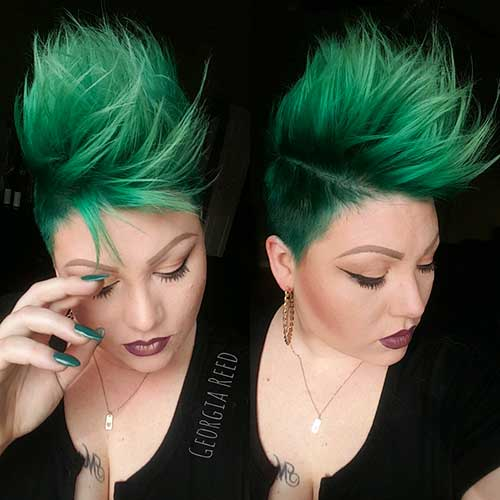 Short Green Hair - 18