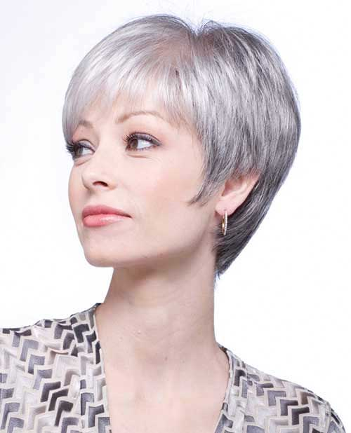 gray hair styles short hairstyles 2017 s grey hair trend hair color 1430 | 18 Short Grey Hairstyle 2017031442