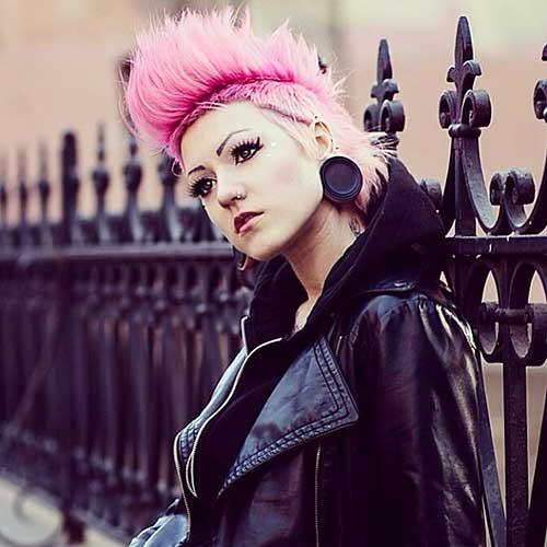 Short Pink Hair 2017 - 19