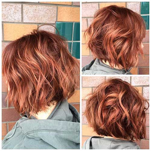 Red Short Haircut