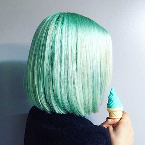 Short Green Hairstyle