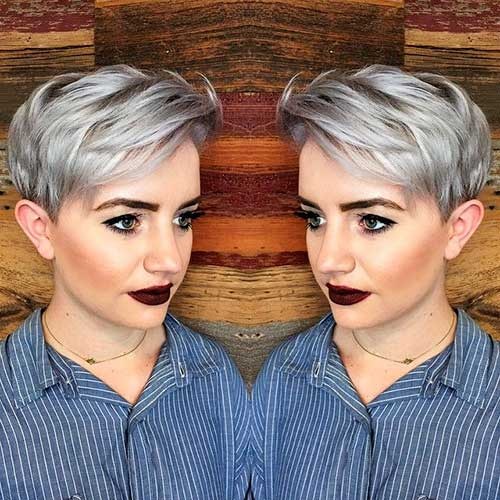 Short Silver Hairstyle