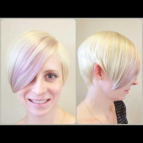 Short Hair with Long Bangs - 20