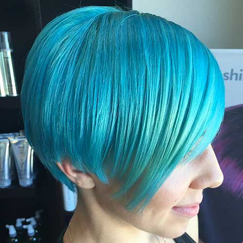 Super Short Blue Hair - 20