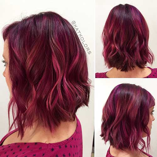 Red Short Haircut - 22