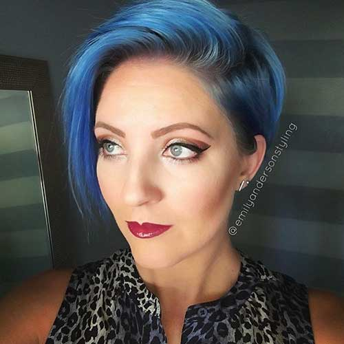 Short Blue Hairstyle - 22