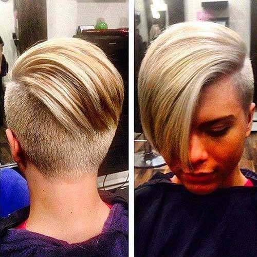 Short Hairstyle with Long Bangs - 22