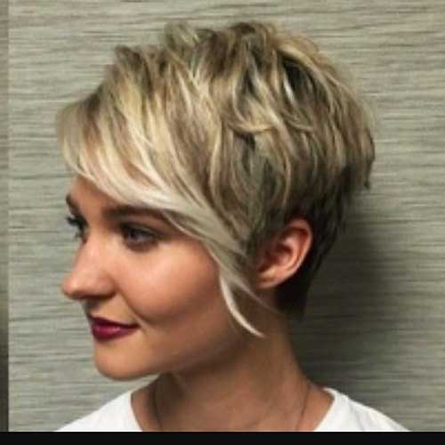 short haircut with long bangs 14 more really cool hairstyles with bangs 2090 | 24 Short Hair with Long Bangs 2017 2017031051