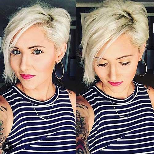 Short Hair with Long Bangs 2017