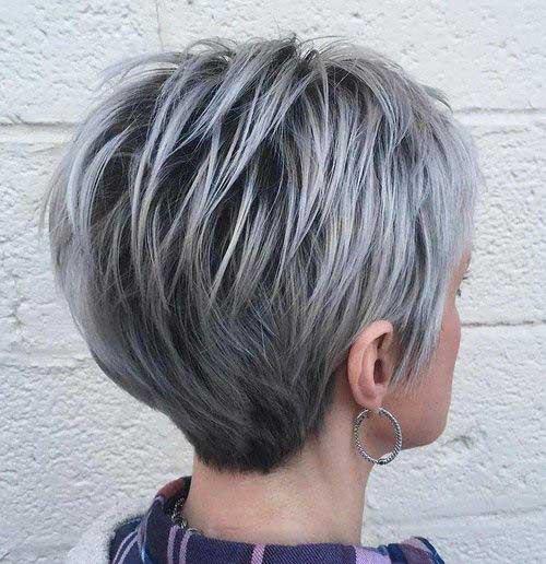 Short Silver Hair 2017