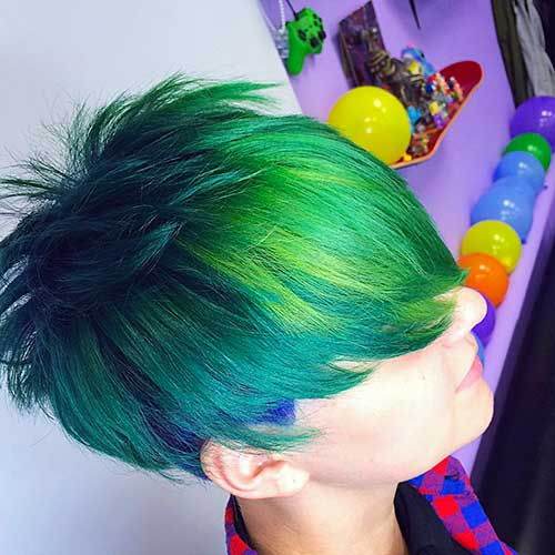 Nice Short Green Hair - 6