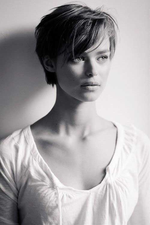 Short Hair with Long Bangs - 7