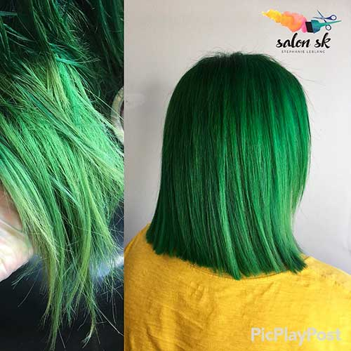 Short Green Hair 2017 - 8