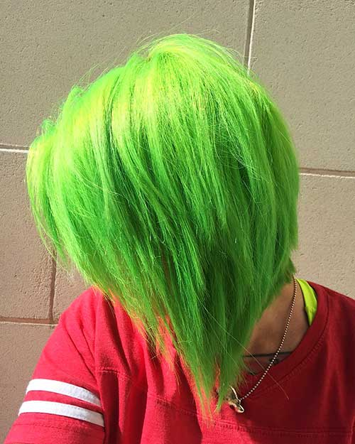 Nice Short Green Hair - 9